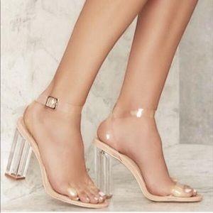 Clear Heels size 7